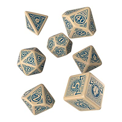 Q WORKSHOP Pathfinder Mummy's Mask Rpg Ornamented Dice Set 7 Polyhedral Pieces: Toys & Games
