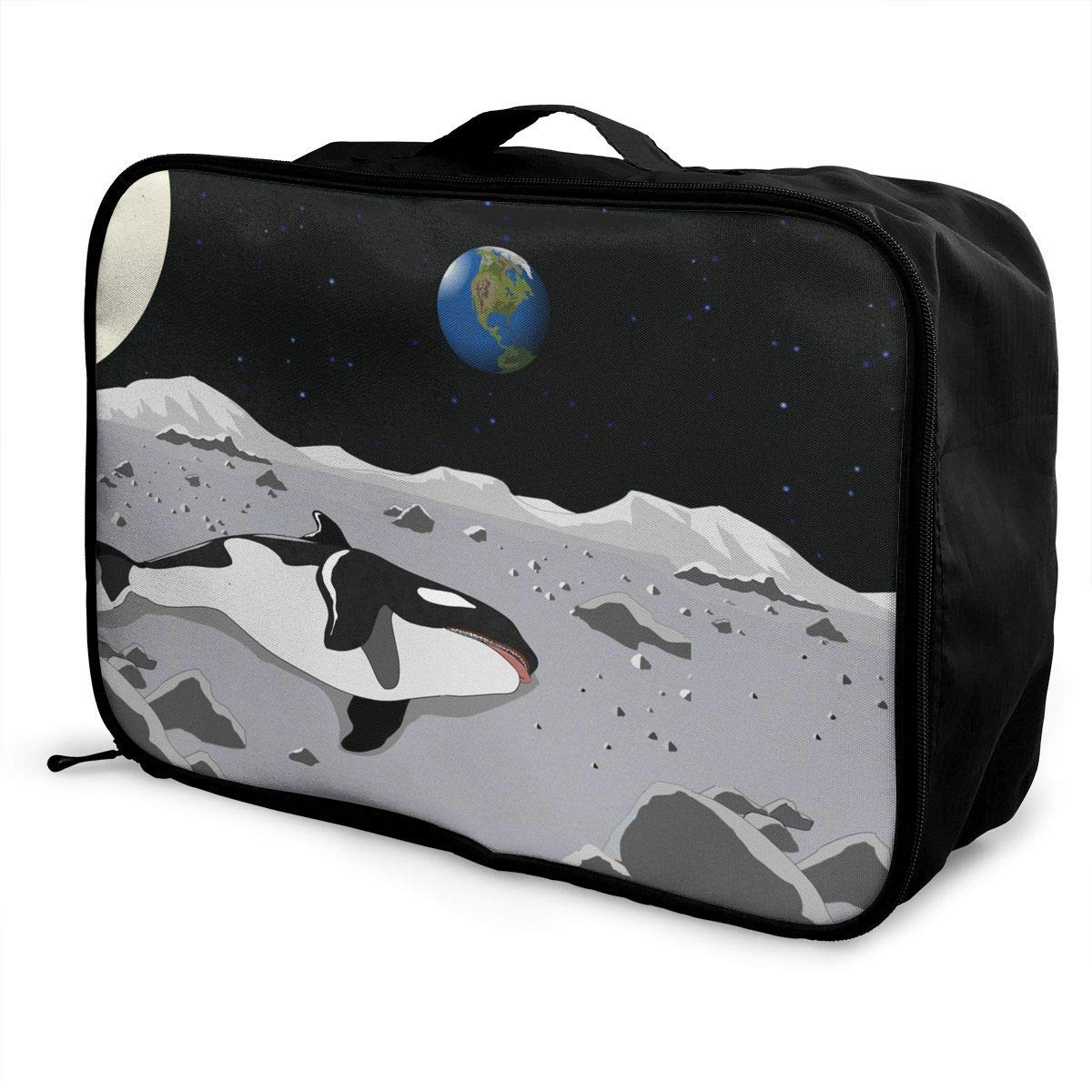 JTRVW Luggage Bags for Travel Lightweight Large Capacity Portable Duffel Bag for Men /& Women Whale Dying Travel Duffel Bag Backpack