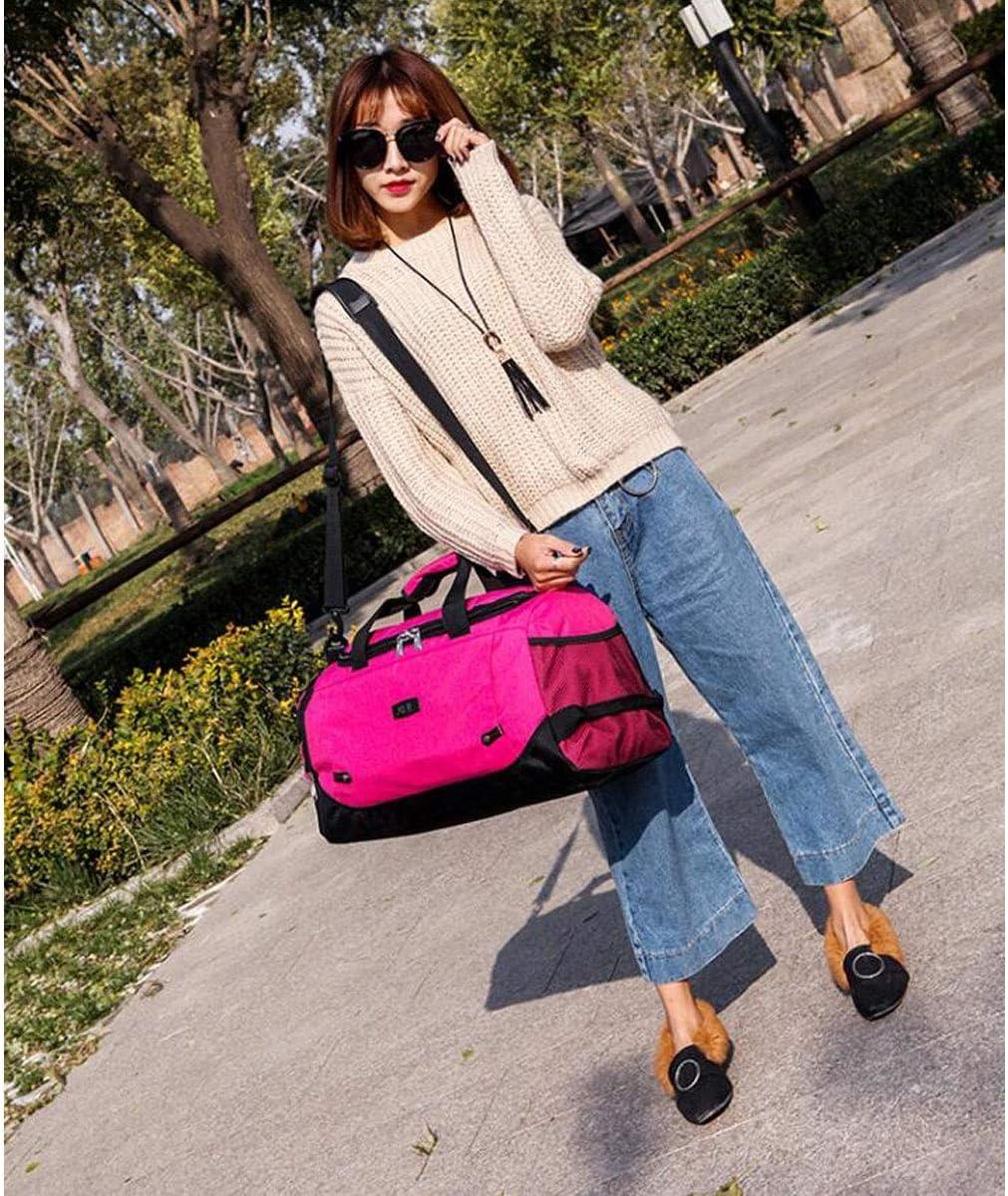 Kaiyitong Fitness Bag Large-Capacity Portable Sports Bag Color : Hemp Black Short-Distance Travel Bag Purple Size: 512327