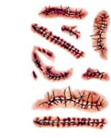 Zombie Scars Tattoos Bloody Scar with Fake Blood Costume Makeup Halloween Decoratios Party Favor