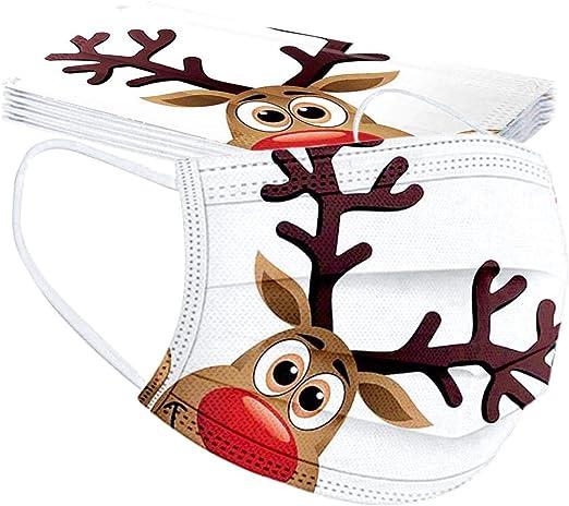 HUYURI 10 St/ück Herren Damen Bandanas Einweg 3-lagig Atmungsaktiv Erwachsene Outdoor Accessory mit Weihnachten Motiv Halstuch Lustige Multifunktionstuch