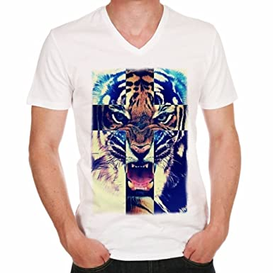 e44d2744888bf4 Tiger Lion Rawr Hipster Herren T-shirt