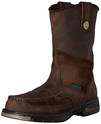 ef766c551a5787 Amazon.com | Georgia Boot Men's Athens Wellington Meel Toe Work, Brown, 9 M  US | Industrial & Construction Boots
