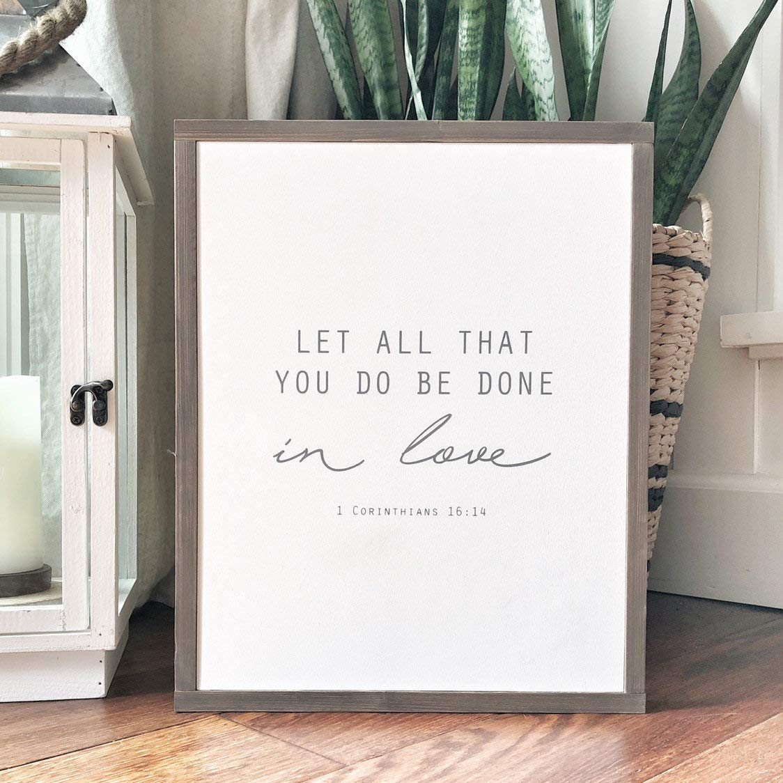 Let all that you do be done in love 1 corinthians 1614 Scripture wall art Bible verse decor