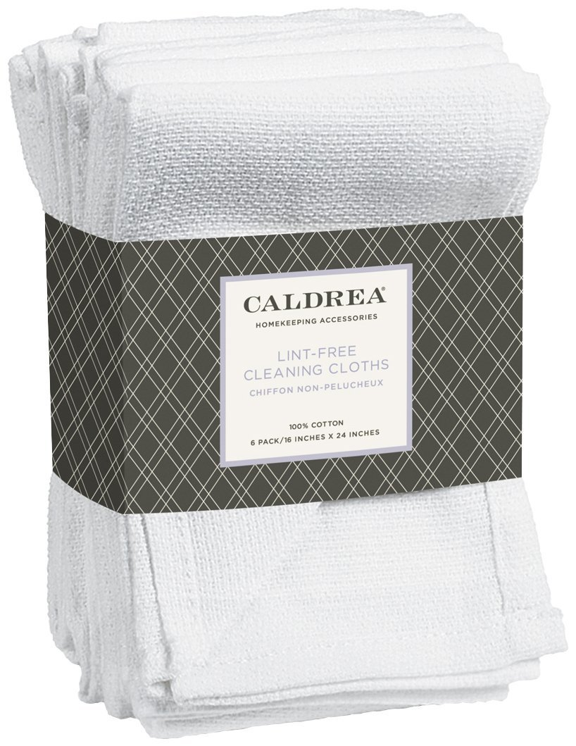 Caldrea Lint-Free Cleaning Cloths - 6 pk