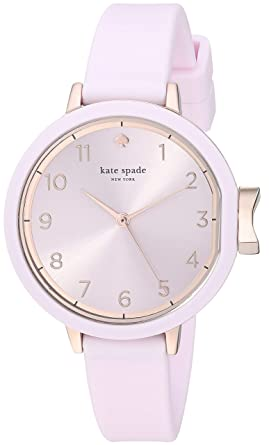 99f0314ae kate spade new york Women's Park Row Analog-Quartz Watch with Silicone Strap,  Pink