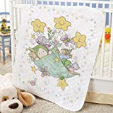 Herrschners Pre-Quilted Bundle of Joy Baby Quilt Stamped Cross-Stitch Kit