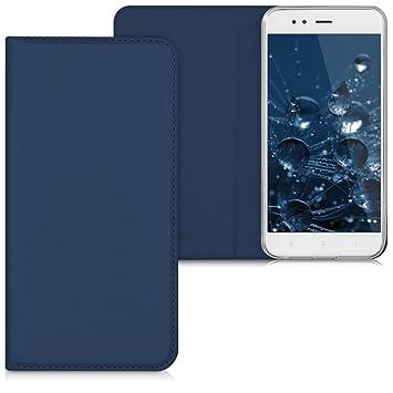 kwmobile Funda compatible con Xiaomi Mi 5X / Mi A1 - Carcasa para móvil de [cuero sintético] - Case en [azul oscuro]
