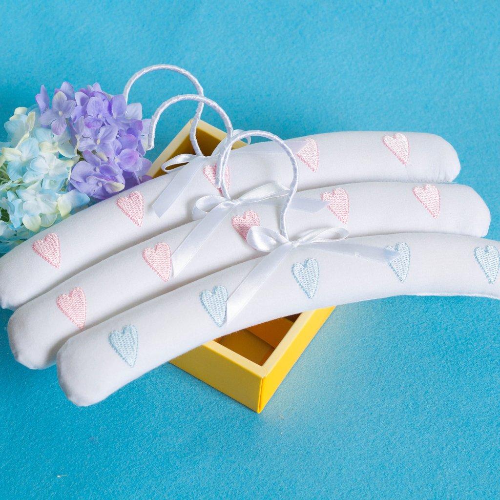 MagiDeal Herz Baby Kinder Kleidung Kleiderb/ügel Baby Dusche Geschenk Blau 41cm