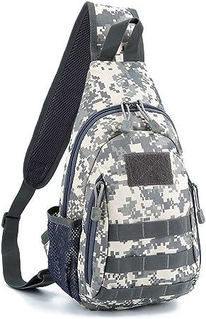 Wenzhihua Bolsa de Pecho para Hombre y Mujer Sling Pack Sport Bags Bandolera en el Pecho Desequilibrio Gym Fanny Bag Satchel Backpack Sling Bag Mochila Crossbody Impermeable (Color : ACU Digital): Amazon.es: