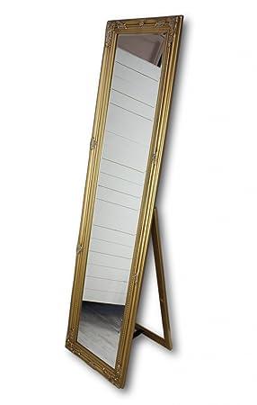 Standspiegel Ganzkörperspiegel Spiegel Landhausstil Weiss Ankleidespiegel Antik