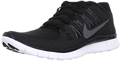 newest 5b141 b9bc5 Nike Men s Free 5.0+ Breathe Running Black   Metallic Dark Grey   White  Synthetic Shoe