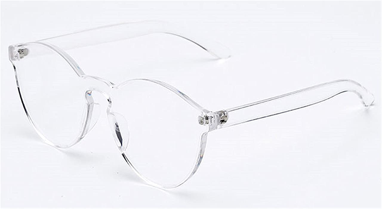60d048c2727 Amazon.com  Solme New Stylish Transparent Cat Eye Sunglasses Women Men  Luxury Designer Clear Sun Glasses Integrated Goggles Red Candy Rose   Clothing