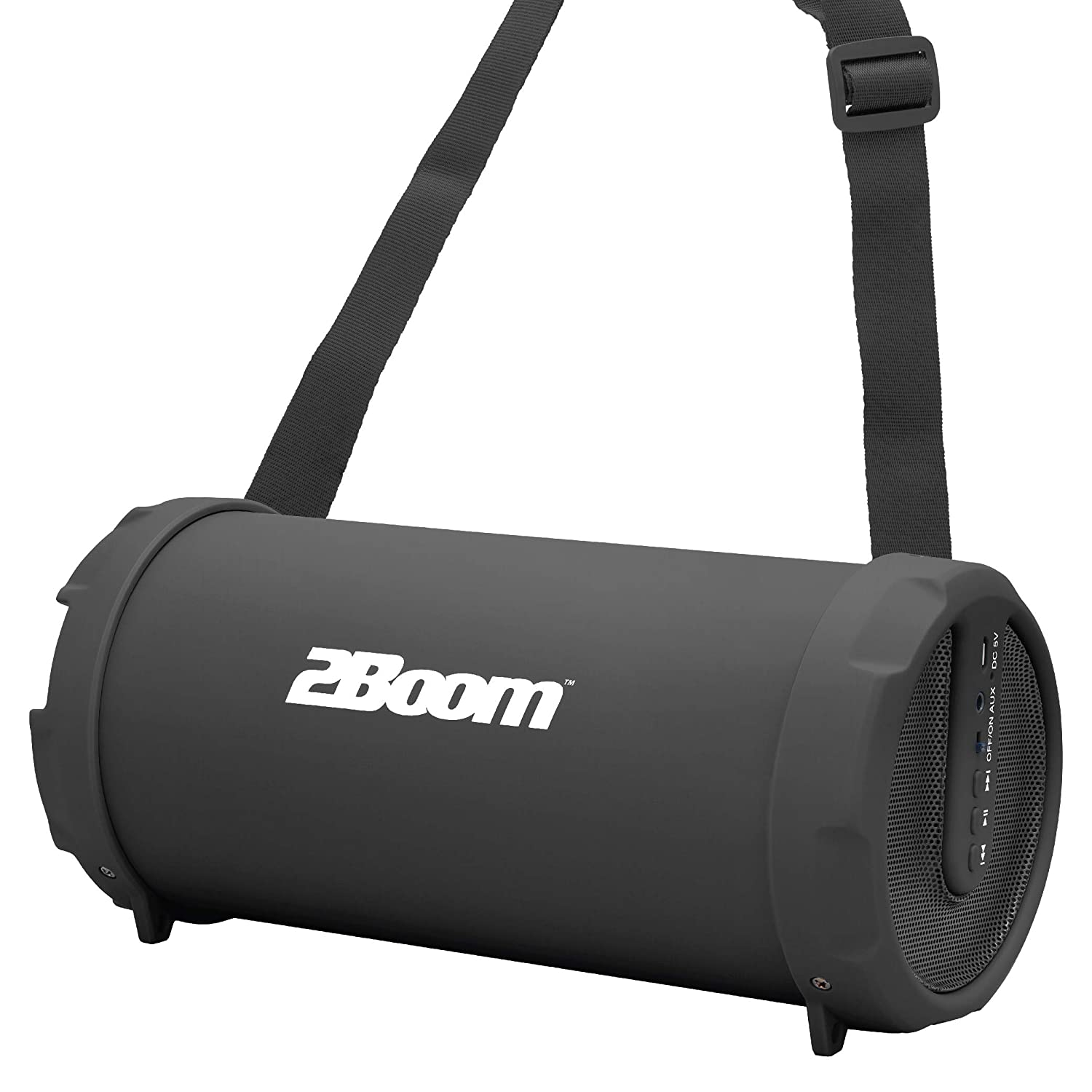 2BOOM Mini Bass King Wireless Bluetooth Portable Outdoor Speaker with FM  Radio LED Display - Black