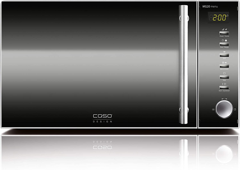 CASO 3320 Mikrowelle/&Grill MG20 menu Edelstahl NEU!!