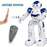 SGILE Recargable Robot de Radiocontrol Juguete, Programación Inteligente Robotica Gestos Sensación Bailando Cantando Caminando para Niños Regalo