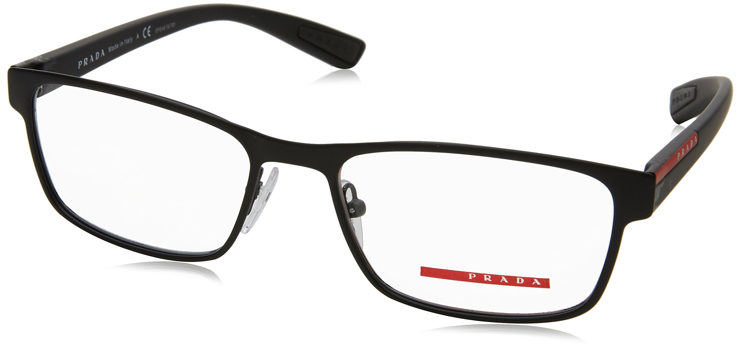Prada PS50GV Eyeglass Frames DG01O1-53 - Black Rubber PS50GV-DG01O1-53