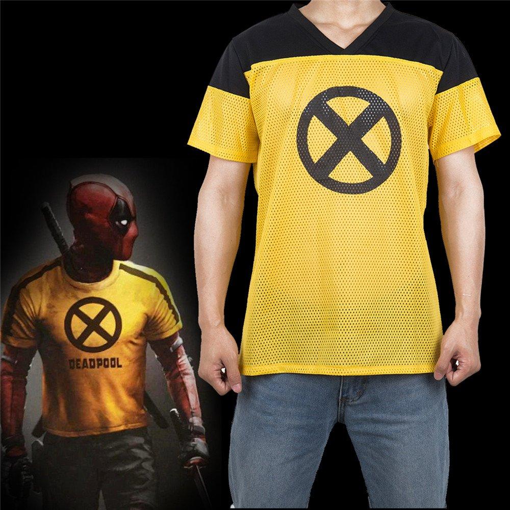 YACN 2018 Movie Deadpool T Shirt Deadpool 2 Tees Camicie Costume Deadpool Manica Corta Cosplay