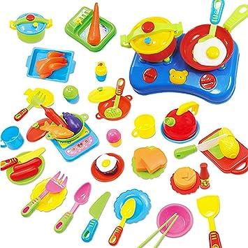 juguete de cocina juego de comida piezas utensilios de cocina para nios regalo