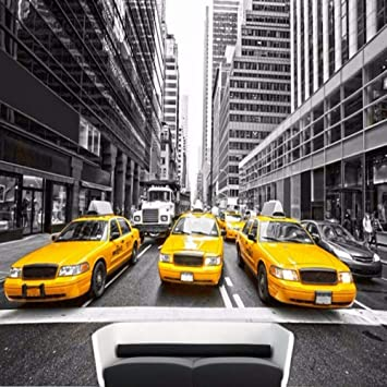 Yshasag Mural De Seda New York Yellow Taxi 3d Wallpaper El