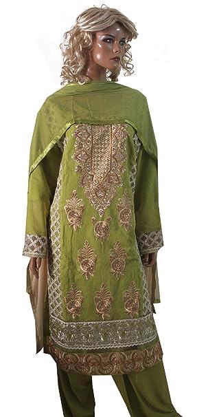a5a7f421b8 Amazon.com: Apparelsonline Indian Plus Size 50 Cotton Salwar Kameez Party  Wear (50): Clothing
