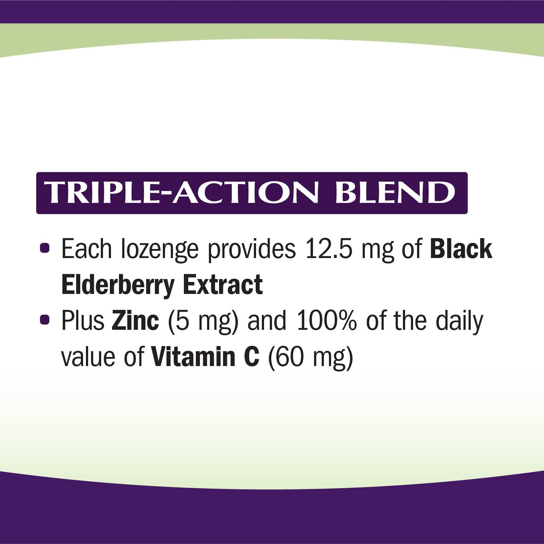 Sambucus Zinc lozenges with Elderberry and Vitamin c, Honey Lemon Flavor, Gluten Free, Kosher Certified, 24 Count by Nature's Way (Image #8)