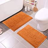 LuxUrux Bathroom Rugs Set-Extra-Soft Plush Bath mat