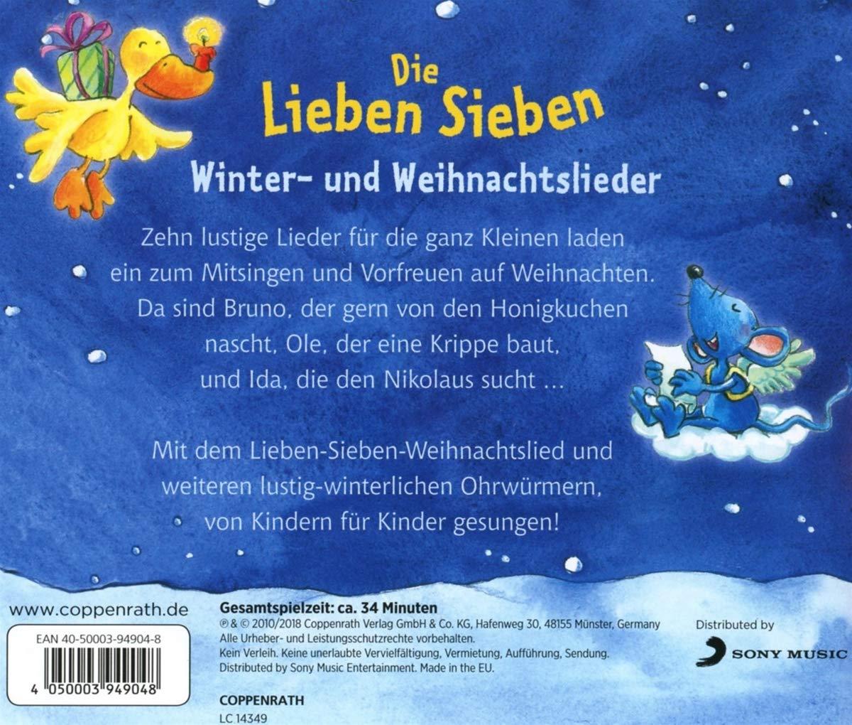 Winter-und Weihnachtslieder - die Lieben Sieben: Amazon.de: Musik