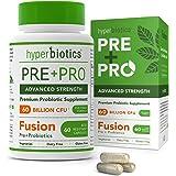 Hyperbiotics PRE-PRO Advanced Strength: Premium Prebiotic and Probiotic 60 Billion CFU Formulation -60 Capsules with 15x…