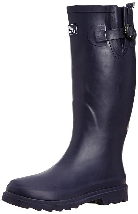 Damon - Botas de agua de goma mujer, color azul, talla 38.5 Trespass
