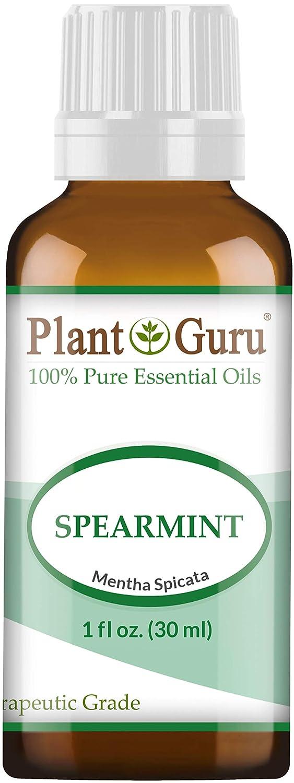 Spearmint Essential Oil 30 ml. (1 oz.) 100% Pure, Undiluted, Therapeutic Grade. by Plant Guru   B00FVW1SQ2