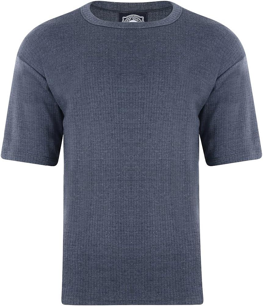 6XL Kam Jeanswear T-shirt thermique pour homme Gris anthracite