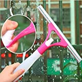 GS Grow n Shine Spray Type Glass Wiper Window Clean Shave Cleaning Brush (Multicolour)