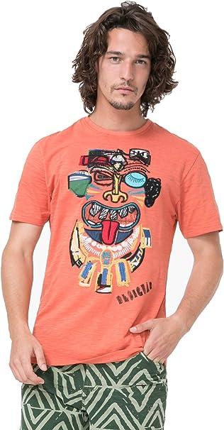 Desigual - Camiseta - para Hombre Naranja Naranja X-Large: Amazon.es: Ropa y accesorios