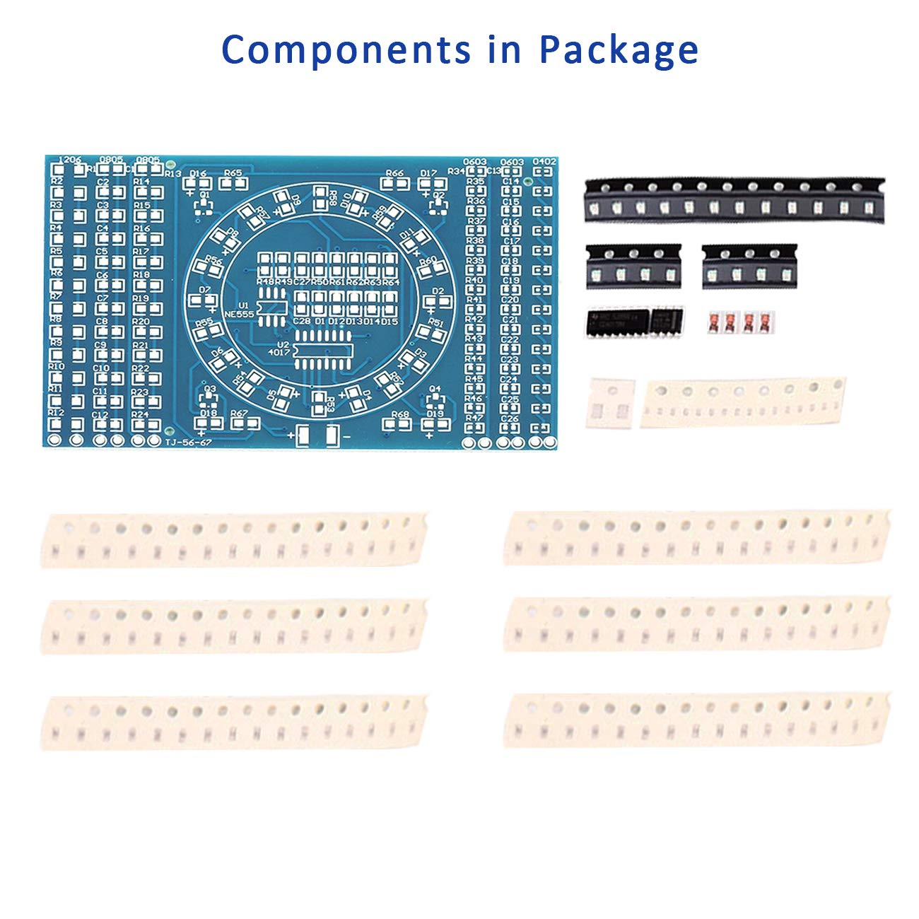 Amazon.com: WHDTS Kit de soldadura de componentes LED SMD de ...