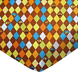 product image for SheetWorld Fitted Cradle Sheet - Argyle Brown Transport - Made In USA