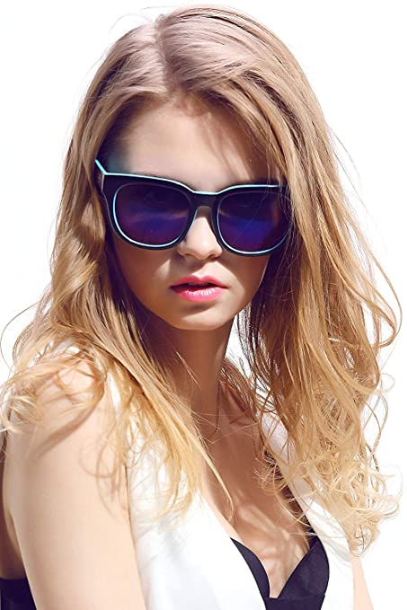 65c886017b006 Amazon.com  Diamond Candy Women s Sunglasses UV Protection Polarized Eye  Glasses Goggles UV400 59Blue  Sports   Outdoors
