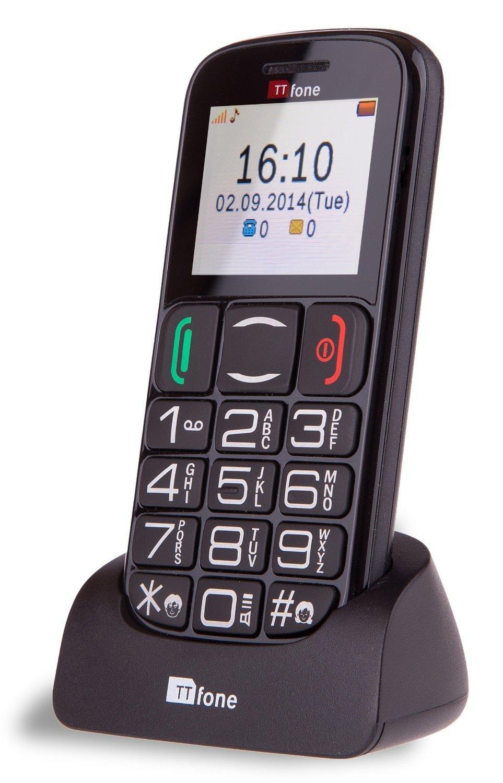 Ttfone Tt200 Mercury 2 Big Button Basic Senior Mobile Phone With Dock - Black