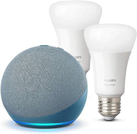Der Neue Echo Dot 4 Generation Blaugrau Philips Hue White Led Lampe Doppelpack E27 Kompatibel Mit Bluetooth Und Zigbee Kein Hub Erforderlich Alle Produkte
