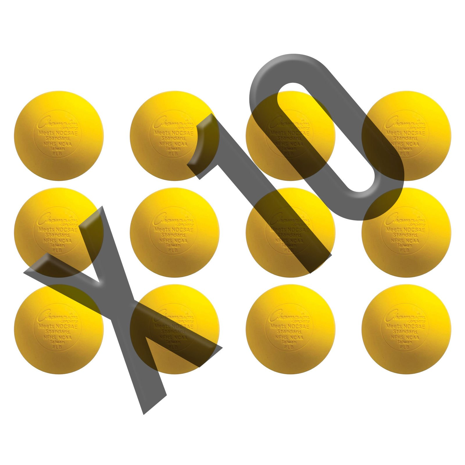 Champion Sports Official Lacrosse Balls - 120 Count, Yellow by Champion Sports
