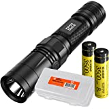NITECORE EC23 1800 Lumens High Performance LED Flashlight, 2x 3500mAh 18650 Rechargeable Batteries, and Lumen Tactical Battery Organizer