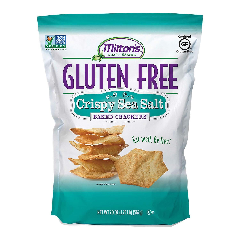 Milton's Gluten-Free Crispy Sea Salt Crackers 20 oz. (pack of 3) A1