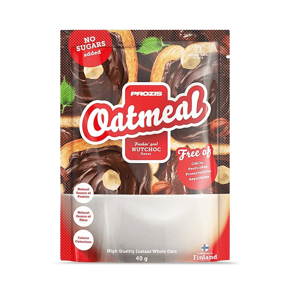 Prozis Sachet Oatmeal - Wholegrain 40 g NutChoc - Cereales Repletos De Proteínas, Hidratos De Carbono De Alta Calidad Y Fibras Saciantes Apto Para ...