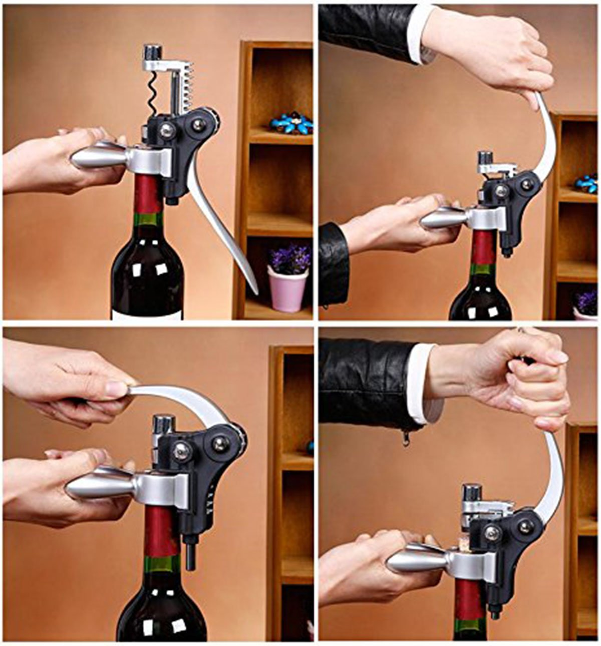 Watson Lee 9pcs Rabbit Wine Bottle Opener Corkscrew Accessories Set with Dark Cherry Wood Case, Unique Gift Idea For Women, Men, Anniversary, Birthday, Christmas, Couples, Friendship, Wine Gift by Watson Lee (Image #3)