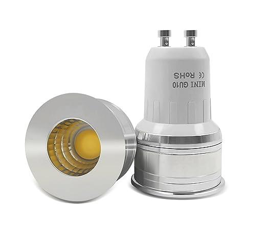 10 x Bombilla LED 35mm GU10 3W 6000K Spotlight mini 220V 240V Spot Angulo living dormitorio