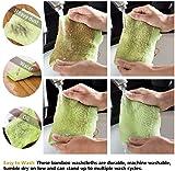 HOPAI Washcloths Bamboo Towel Set 10 Pack for