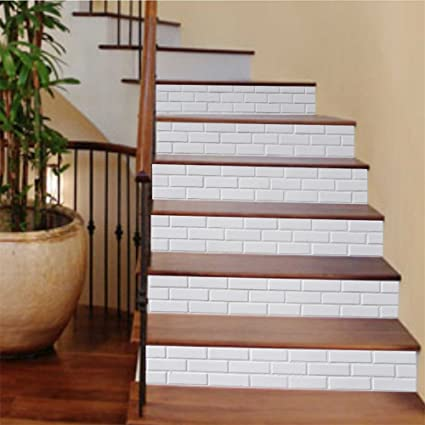 Zhiyuu0026art Decor Creative 3D Stair Stickers DIY Staircase Sticker Murals  Waterproof Tile Stair Risers Sticker