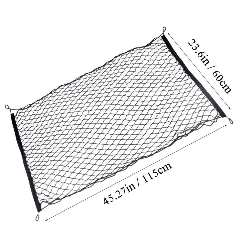 Filet de Chargement /Élastique R/églable Filet de Coffre Extensible Organisateur Filet de Rangement de V/éhicule Universel avec Crochets