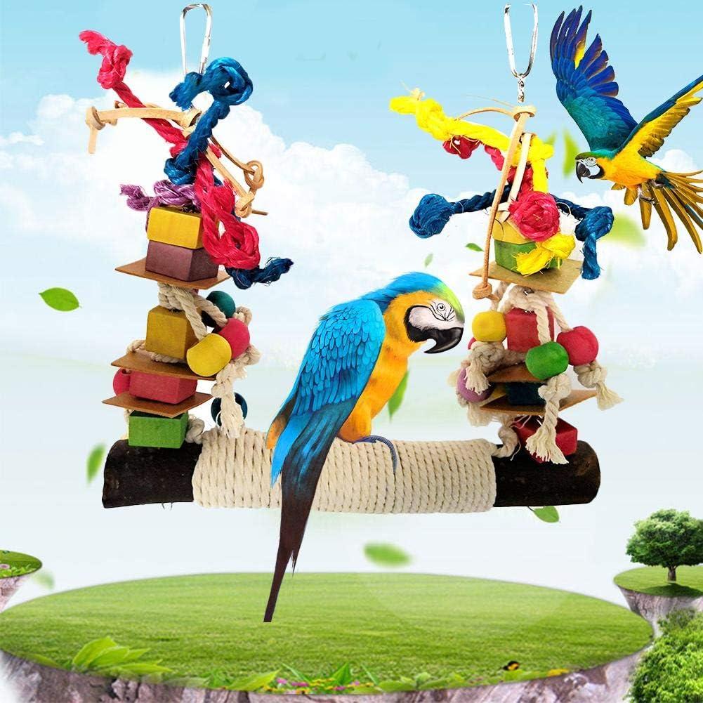 favourall – Columpio para pájaros, Juguete de Loro, Escalera, pájaro, Hamaca, Juguete de Masaje, de Madera Natural para periquitos ninfos, periquitos de Olas y pájaros Bonitos, Aspecto de Nice: Amazon.es: Productos para