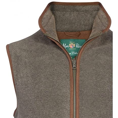 Alan Paine Aylsham Mens Fleece Waistcoat - Classic Fit Olive